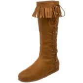 Native American Indian Side Lace Boot - Tan