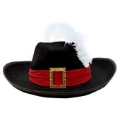 Felt Musketeer Hat w/Ostrich Plume