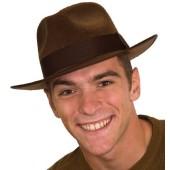 Gangster Hat - Felt, Brown