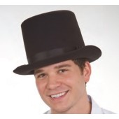 Deluxe Felt Top Hat, Black