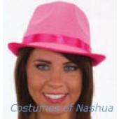 Neon Gangster Glitter Fedora Hat