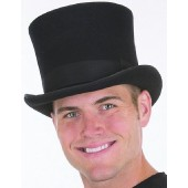Wool Felt Flared Top Hat