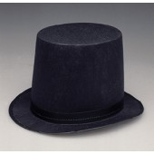 Permafelt Lincoln Stovepipe Top Hat 7""