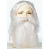 Bargain Father Christmas Wig & Beard Set