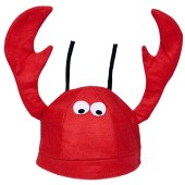 Lobster Hat - Crawfish Hat, Seafood Hat, Funny Hat, Silly Hat, Novelty Hats