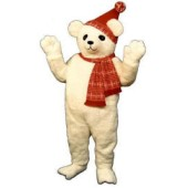 Christmas Polar Bear with Hat & Scarf