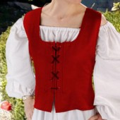 Reversible Peasant Bodice - Red