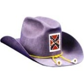 Deluxe Wool Felt Confederate Officer Hat