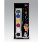 6 Color Water Works Face Painting Palette