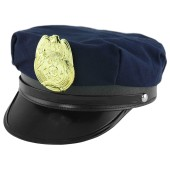 Police Hat with Badge - Blue