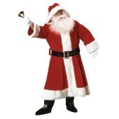 Plush Old Time Santa Claus Suit