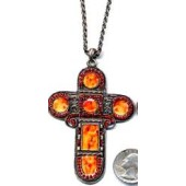 """Cross Necklace 3"""" Tall"""