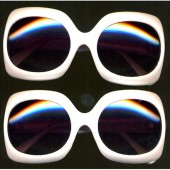 Jackie O Pearlized White Sunglasses
