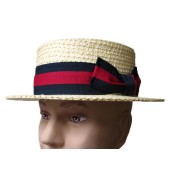 Straw Braid Boater Hat