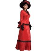 Victorian Dress Red