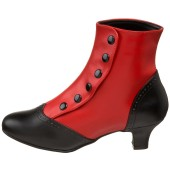 Victorian Ladies Spats Boots Flora - Red